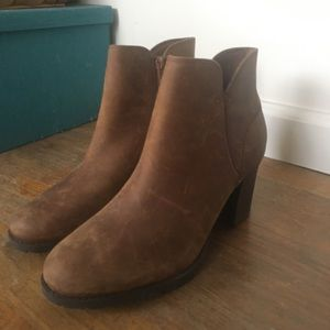 Clark Brown Leather Boots